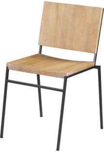 Cadeira Dix Com Assento Em Madeira Driftwood Base Em Aco Grafite - 56694 - Sun House