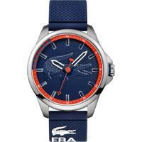 ceaf6fed033 Vivara. Relógio Lacoste Masculino Borracha Azul ...