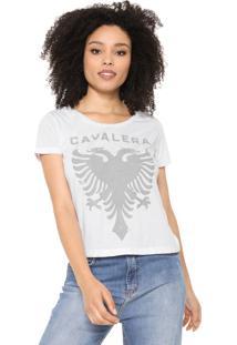 Camiseta Cavalera Águia Craquelada Branca