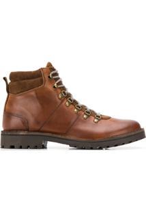 Eleventy Ankle Boot Com Cadarço - Marrom