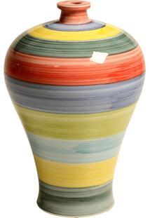 Vaso Decorativo De Porcelana Colorida Chiziane