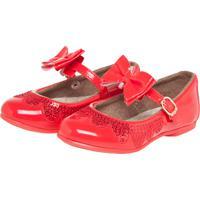 30603d4752 Dafiti. Sapatilha Pimpolho Lantejoulas Brilhantes Infantil Vermelha