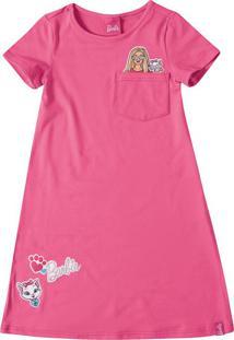 Vestido Evasê Barbie® Malwee Kids