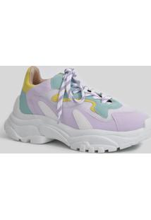 Tênis Feminino Chunky Sneaker Recortes Zatz