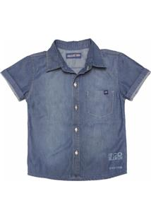 Camisa Jeans Mister Boy Azul