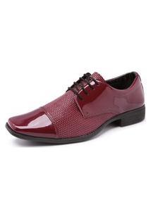Sapato Social Verniz Schiareli 701 Vermelho