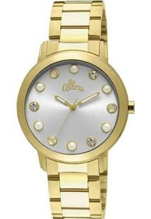 Relógio Feminino Allora Analógico Fashion - Unissex-Dourado