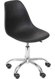 Cadeira Eames Dkr- Preta & Prateada- 93X47X41Cm-Or Design