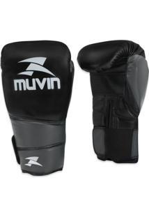 Luva De Boxe Muvin Warrior Bx Lvb100 Preto E Cinza