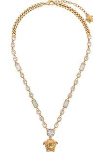 Versace Medusa Pendant Necklace - Dourado
