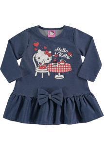 Vestido Marlan Baby Infantil Kitty Azul - Tricae