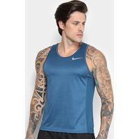 Regata Nike Dri-Fit Miler Masculina - Masculino-Azul Petróleo+Cinza 0d4a38df097