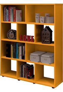 Estante Livreiro Book Organizador 3 Prateleiras Amarela - Artely