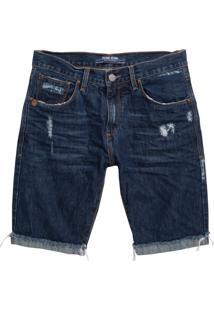 Bermuda John John Classica Minot 3D Jeans Azul Masculina (Jeans Medio, 36)