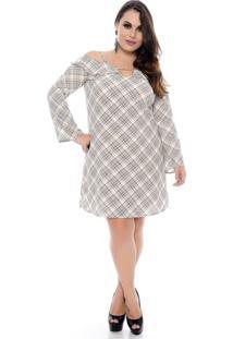 Vestido Xadrez Plus Size
