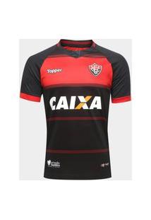 Camisa Vitória I 2018 S/N° Torcedor Topper Masculina - Preto+Vermelho 4201619