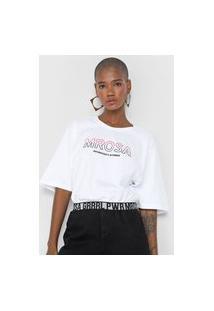 Camiseta Morena Rosa Authenticity Is Power Branca