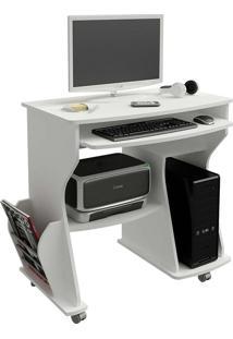 Mesa Para Computador Com 2 Prateleiras 160 - Artely - Branco