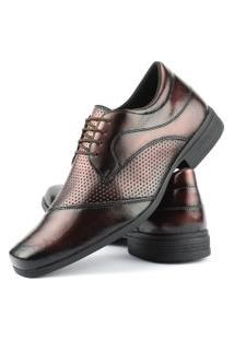 Sapato Social Perfuros Com Cadarço Dhl Masculino Bronze