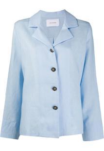 Sleeper Conjunto De Pijama De Linho - Azul