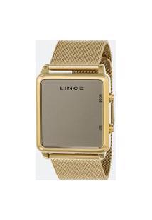 Relógio Unissex Lince Mdg4619L-Bxkx Digital 5Atm | Lince | Dourado | U