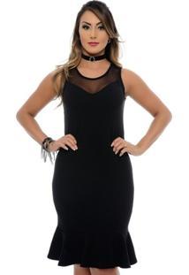 Vestido Midi Social Clarita B'Bonnie - Feminino