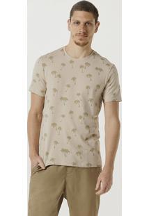Camiseta Masculina Slim Manga Curta Estampada