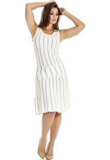 Vestido Listrado Ana Hickmann - Feminino