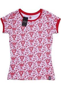Camiseta Feminina Star Wars Empire Full Print - Feminino-Vermelho