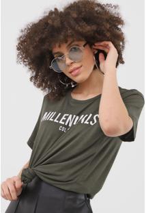 Camiseta Colcci Millennials Verde - Verde - Feminino - Viscose - Dafiti