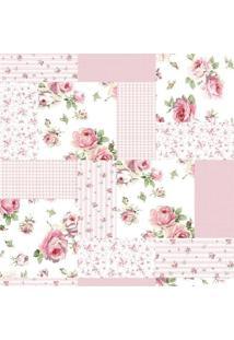 Papel De Parede Adesivo Patchwork Rosa (0,58M X 2,50M)