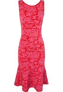 Vestido Cecilia Prado Tricô - Vermelho