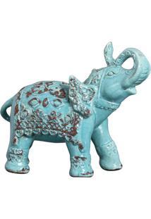 Enfeite Elefante Indiano Ii Azul Turquesa Buzzios