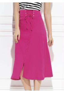 f518ddf4d1 Saia E Mini Saia Pink Quintess feminina