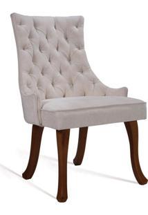 Cadeira De Jantar Leonardo Da Vinci Ii Capitonê Veludo Cru