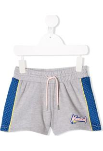 Kenzo Kids Short Com Logo - Cinza