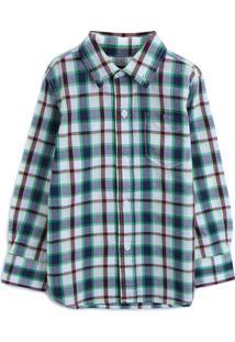 Camisa Gap Menino Xadrez Verde/Branca