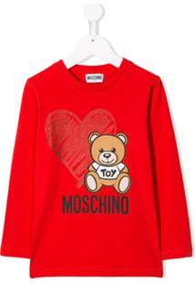 Moschino Kids Blusa Com Estampa Teddy Bear - Vermelho