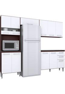 Cozinha Compacta 4 Peças Karina -Poquema - Capuccino / Branco