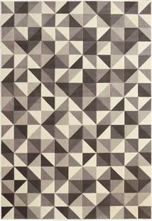 Tapete Supreme Absoluto Geométrico- Cinza & Off White