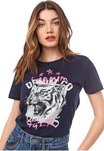 Camiseta Carmim Tiger Azul-Marinho