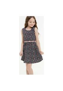 Vestido Infantil Sem Manga Estampa Coração Marisa Tam 4 A 10