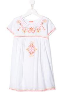 Sunuva Vestido Com Bordado Floral - Branco