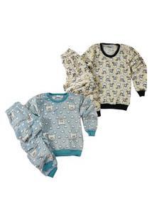 Kit 2 Pijamas Soft De Inverno Infantil Meninos Multicolorido