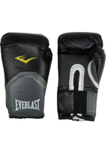 Luvas De Boxe Everlast Pro Style 16 Oz - Preto/Branco