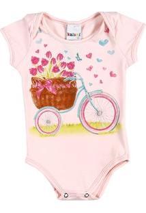 Body Infantil Para Menina - Rosa