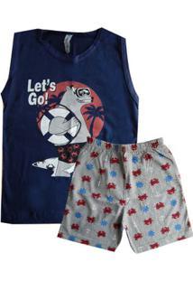 Pijama Regata Infantil Menino Sortido Verão