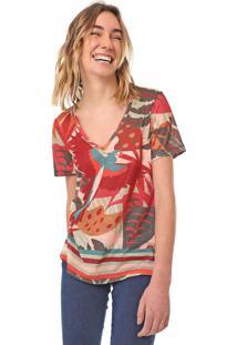 Camiseta Cantão Subli Avoa Vermelha/Verde