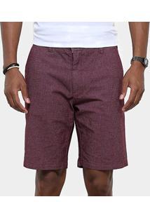 Bermuda Redley Smart Pocket Color Masculina - Masculino-Vinho