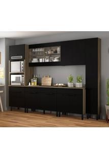 Cozinha Compacta Itamaxi 11 Pt 6 Gv Preta E Castanho